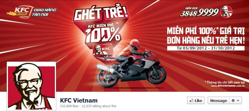 Fanpage của KFC Vietnam