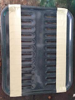 grease drain pan before cut