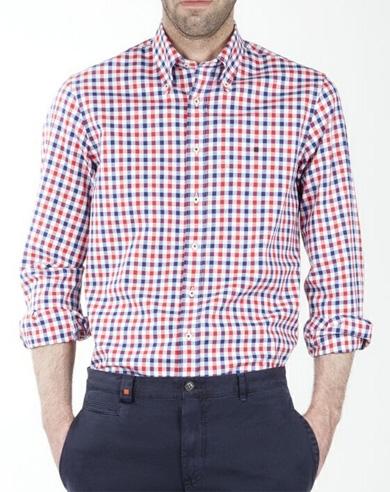 Camisa de cuadros en blanco b40a8eed87a