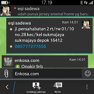 Alamat lengkap Eqi Sadewa di enkosa sport jual online jersey bola kualitas grade ori made in thailand