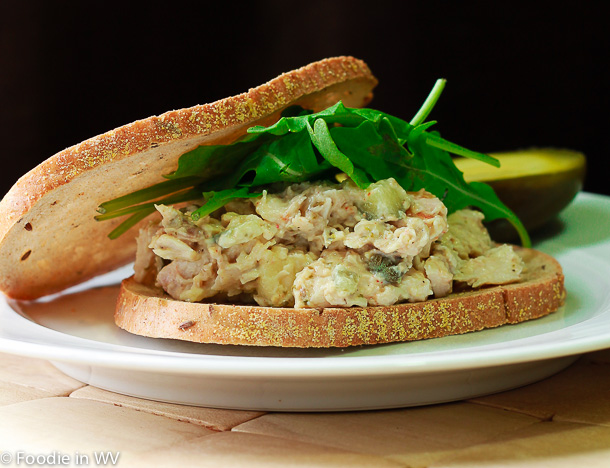 Click for Recipe for Chicken Salad with Capers on Rye Bread