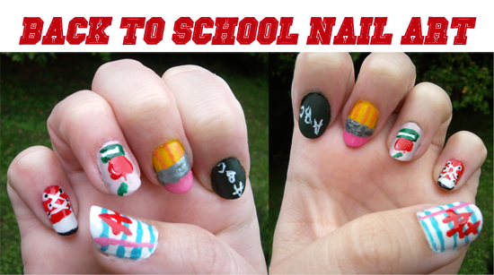 Mad about nails back to school nail art last year you may remember that i painted my nails to look like number 2 pencils for my back to school nail art it was one of my earliest nail art prinsesfo Gallery