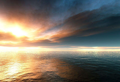 3D Sunset Landscape wallpaper