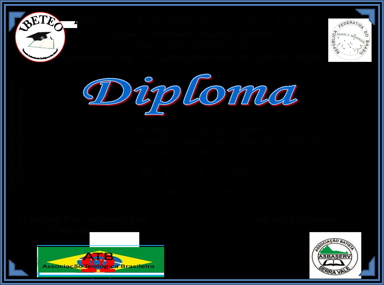 MODELO DE CREDENCIAL E DIPLOMA