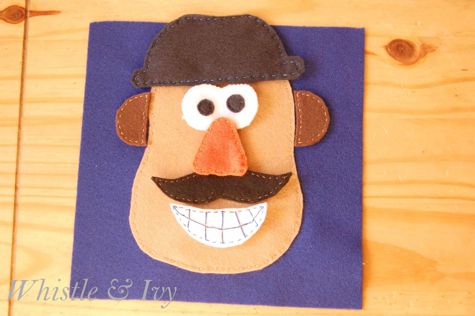 Mr. Potato Head Quiet Book Page - Whistle and Ivy