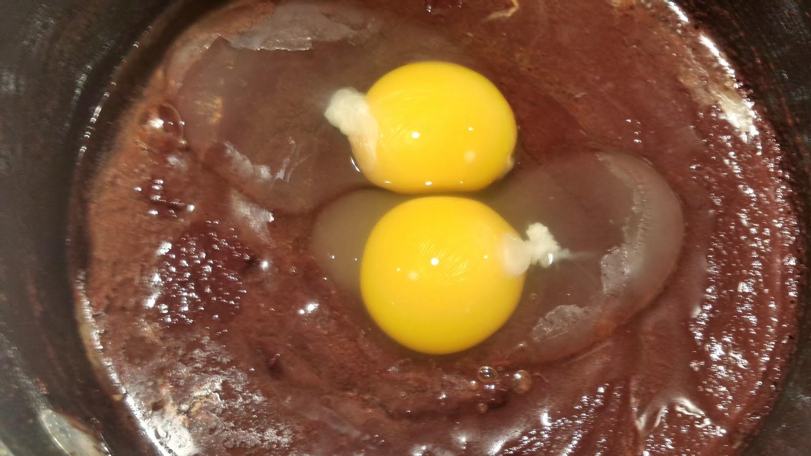 eggs in cocoa batter