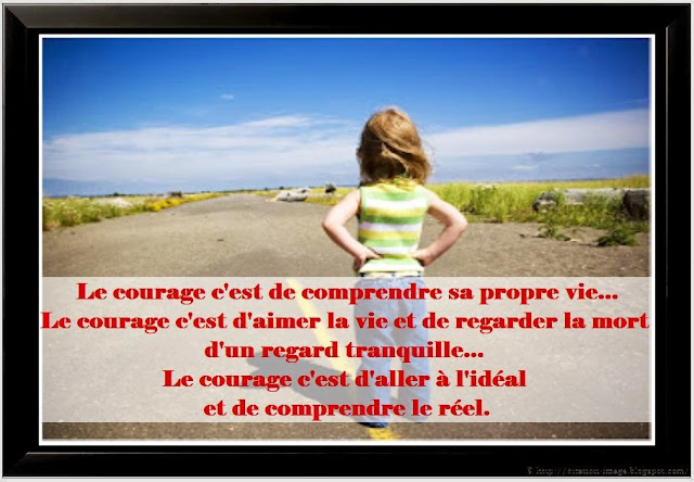 Citation espoir courage en image