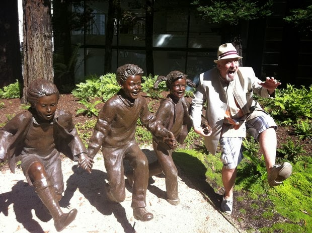 Tourist Posing Inappropriately with Statues 7