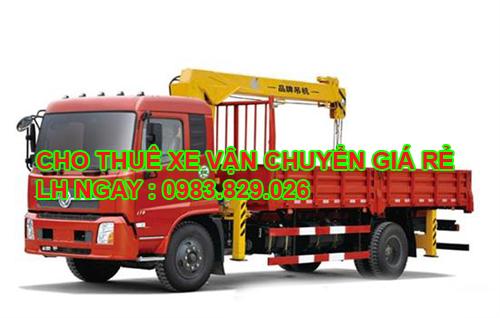 cho thuê tải gắn cẩu để chở hàng