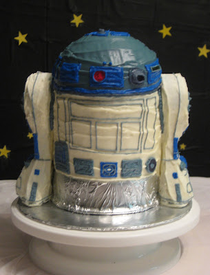 Star Wars 3D R2-D2 Cake - Back View