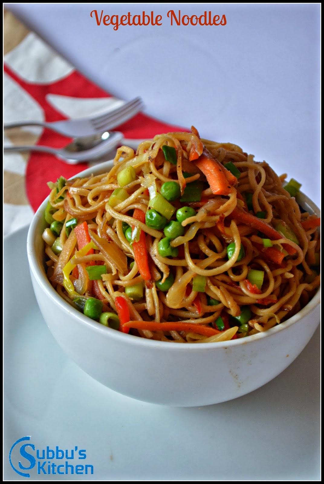 Vegetable Noodles Subbus Kitchen