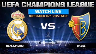 مباراة ريال مدريد وبازل بث مباشر
