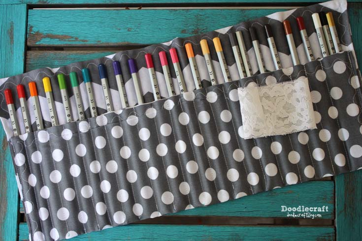 DIY Fabric Pencil Organization
