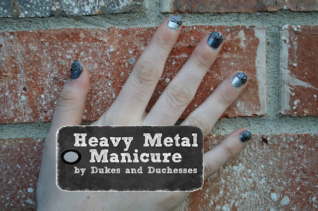 heavy metal manicure #IHeartMyNailArt