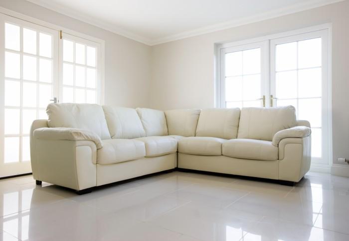 ROSE WOOD FURNITURE Modern Corner Sofa