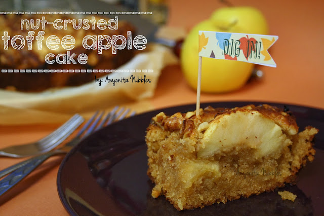 nut-crusted toffee apple cake from anyonita-nibbles.co.uk