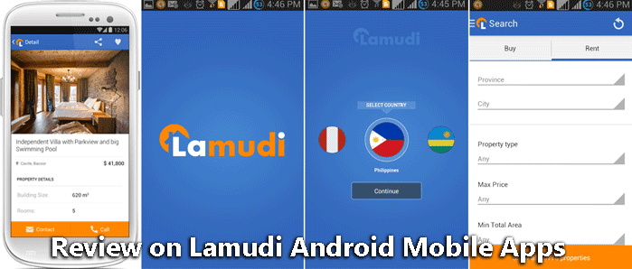 Review on Lamudi Android Mobile Apps