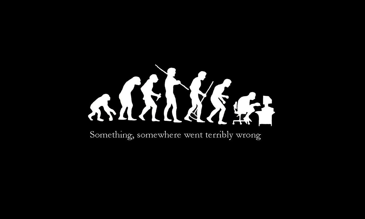 Funny IT wallpapers Evolution
