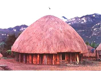 Arsitektur Rumah Tradisional Honai Memiliki Atap Berbentuk Kerucut Yang Terbuat Dari Jerai Atau Gulma Honai Rumah Ukuran Umumnya Kecil Dengan Ketinggian