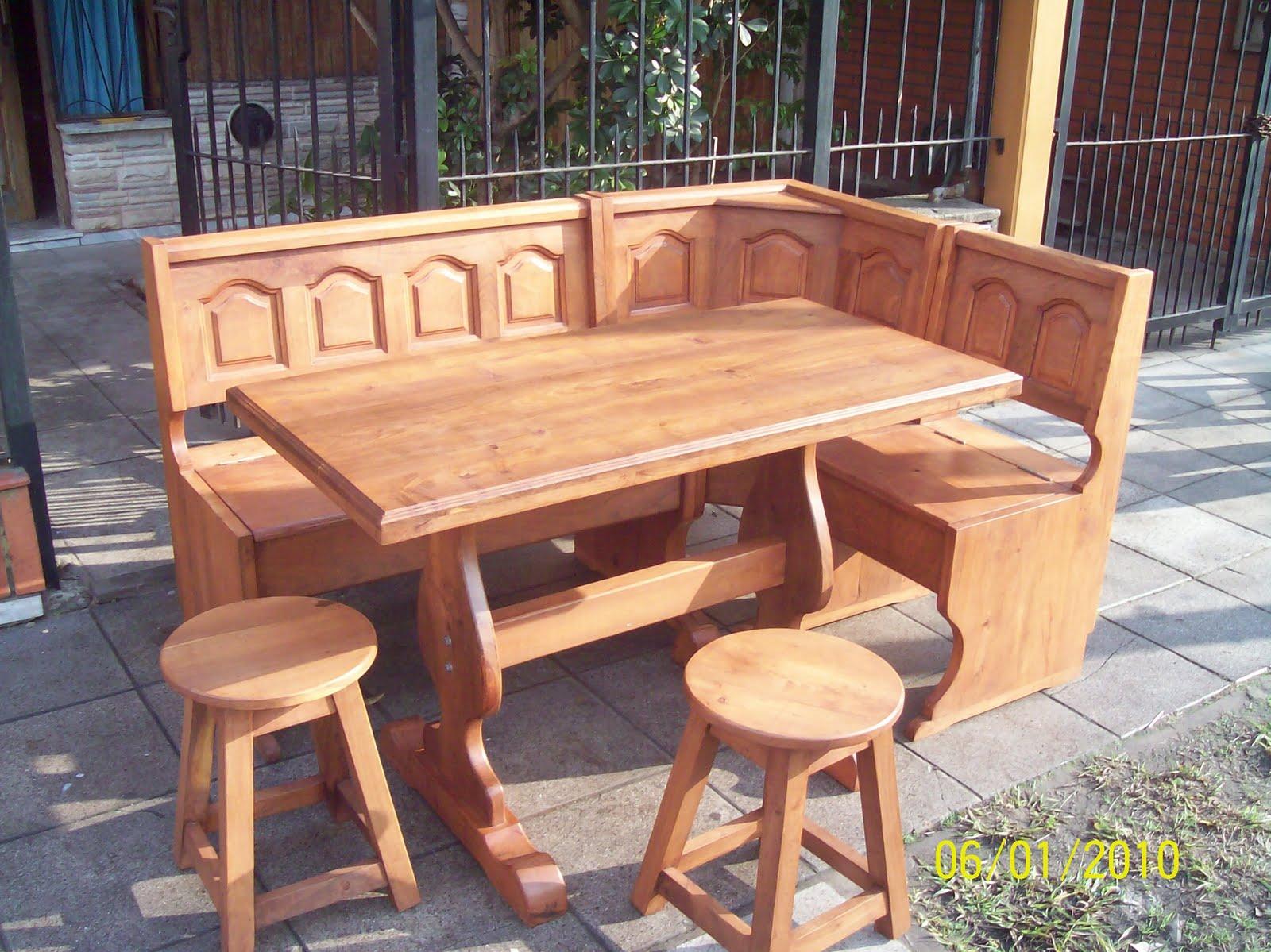 Algarrobo mis muebles mesas sillas taburetes y banco - Banco de cocina rinconero ...
