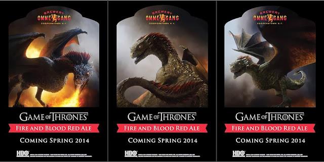etiqueta cerveza juego de tronos Fire and Blood Red Ale - Juego de Tronos en los siete reinos