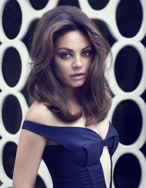 Mila Kunis 60s hair