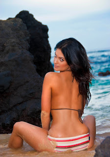 Denise Milani Photo shoot, Big Rocks Photo shoot