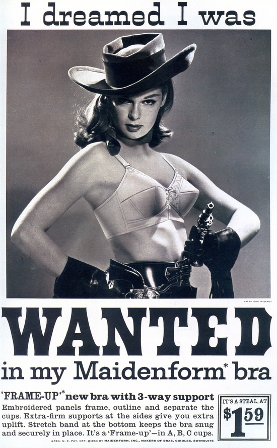 I dreamed I was wanted in my maidenform bra vintage ad