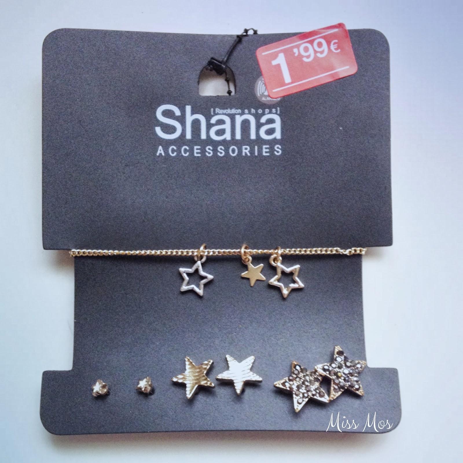 Pack pulsera y pendientes estrella Shana
