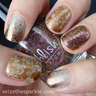 Essie Leggy Legend, Pahlish Autumn People, KBShimmer Owl Miss You. Pahlish Gumdrop Rooftop