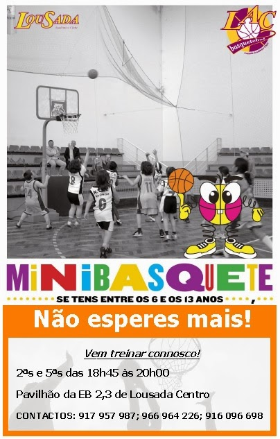 Escola de Minibasquete do L.A.C. - INSCRIÇÕES Abertas