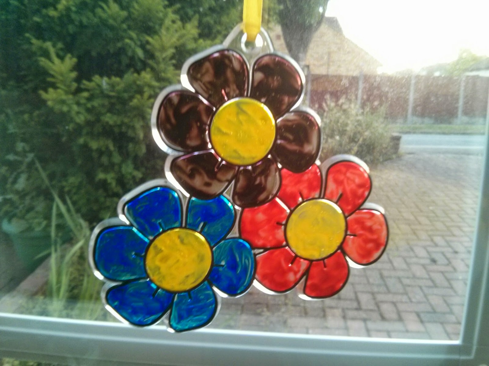 Suncatchers in the window