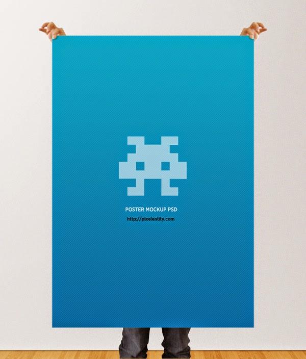 Download Poster Mockup Terbaru Gratis - POSTER MOCKUP TEMPLATE PSD BY PIXELENTITY