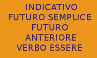 COME SCRIVERE 10 FRASI CON L'USO DEL VERBO ESSERE AL FUTURO SEMPLICE E FUTURO ANTERIORE DELL'INDICATIVO