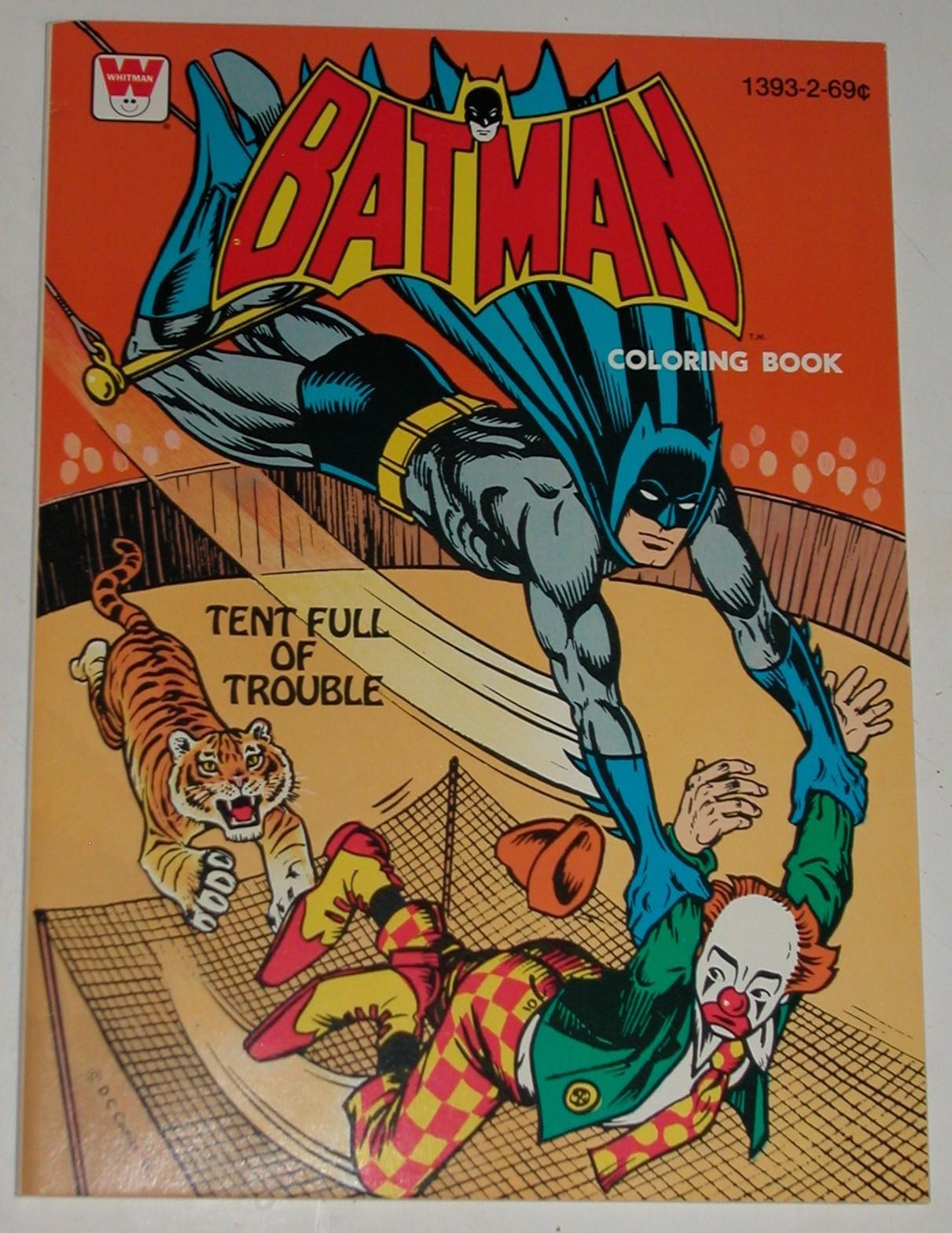 Vintage Batman Coloring Books