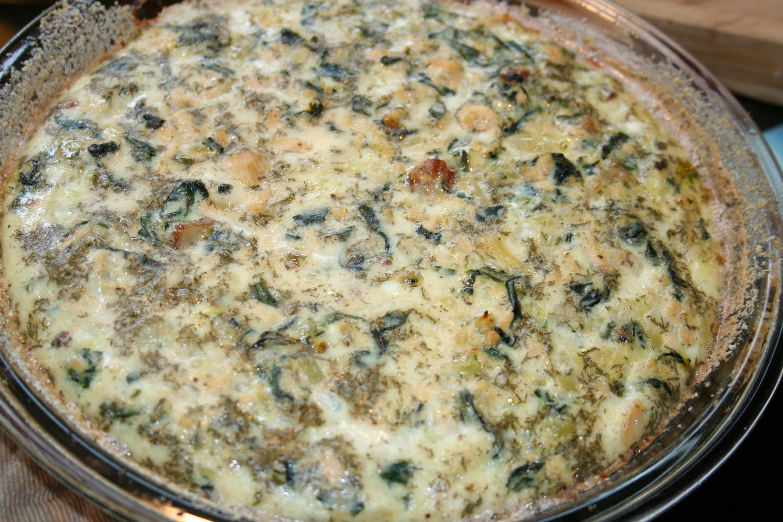Budget Paleo...Made Easy: Crustless Salmon Quiche with Swiss Chard