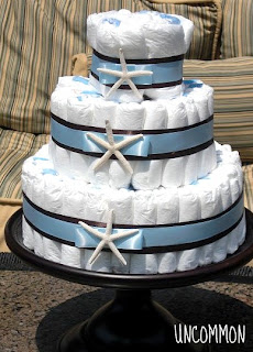 Uncommon Designs nautical diaper cake