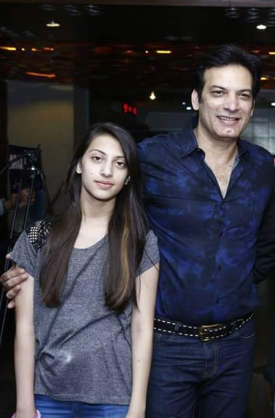 Saleem Sheikh with his daughter