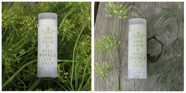 dill pickle chapstick lip balm keep calm and dill pickle lip balm spa shea butter made in detroit michigan little flower soap co garlic dill spicy pickle novelty gift