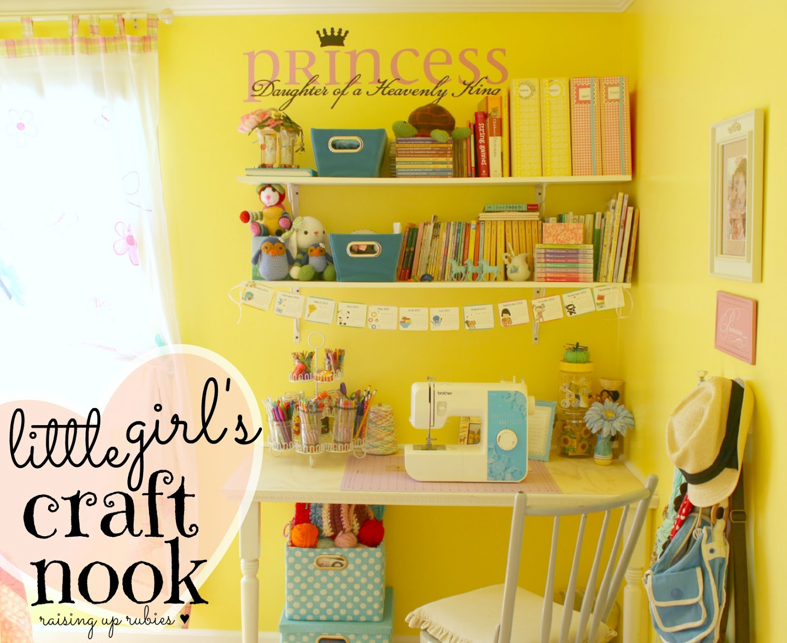 Raising Up Rubies- Blog: a little girl\'s craft nook ... ♥