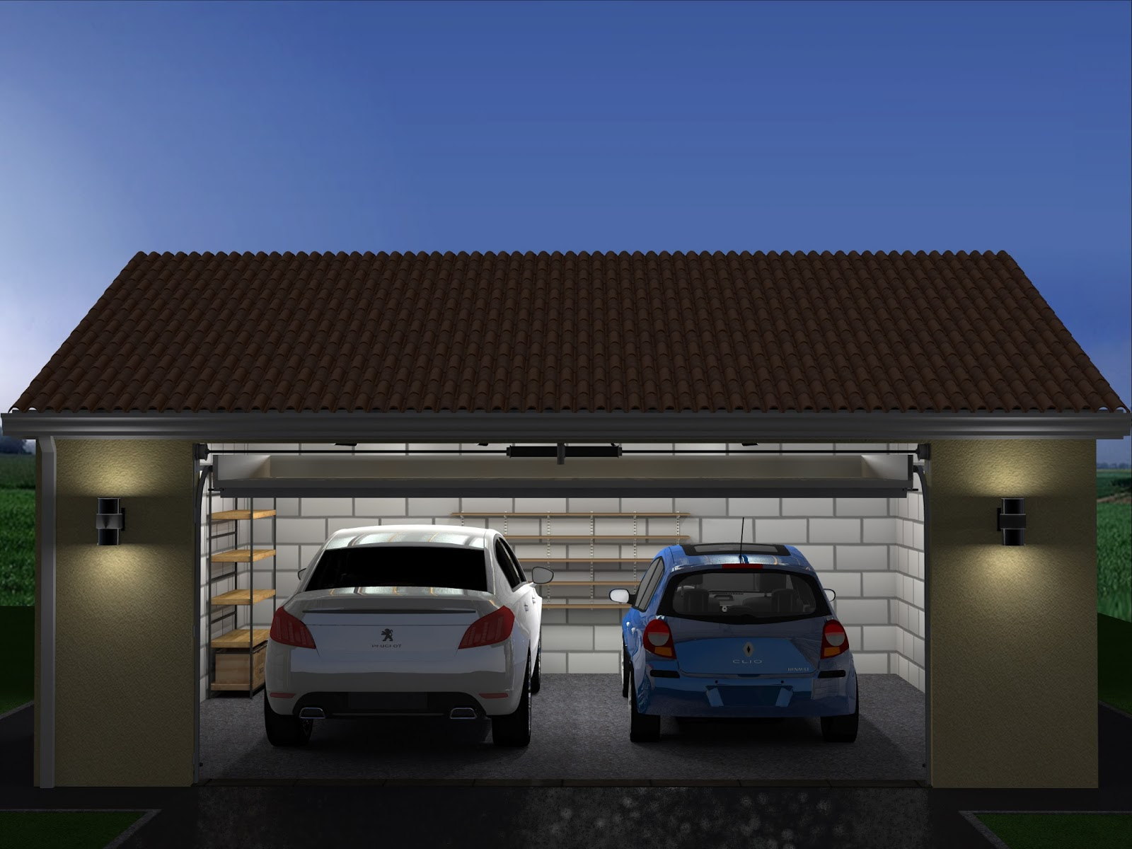 Projet de construction de garage double for Double porte de garage