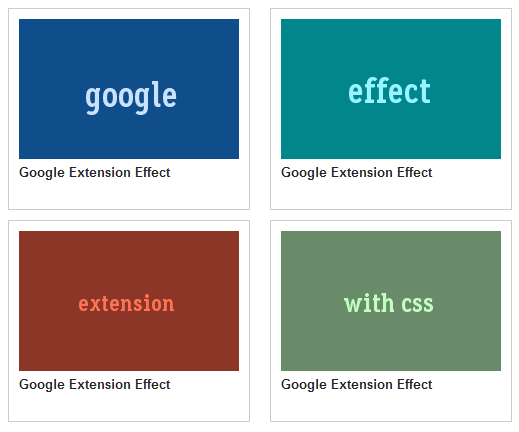 Base HTML and CSS,Google Extension Effect with CSS3.