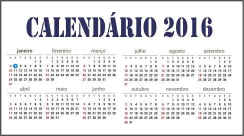 Calendário 2016 LMC