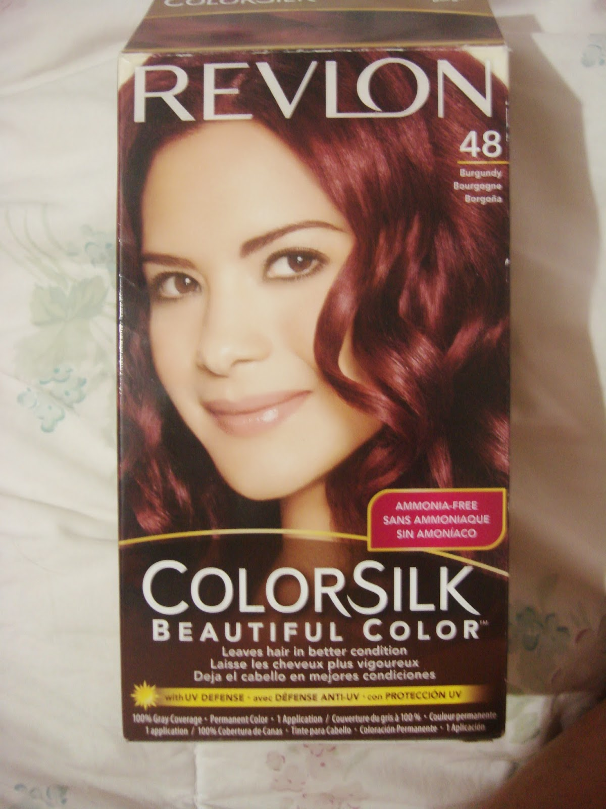 The Imagine Train: Dying My Hair Burgundy|Revlon ColorSilk Beautiful Color #48 Burgundy|From ...
