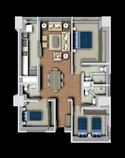 Departamentos minimalistas planos imagui for Plantas arquitectonicas minimalistas