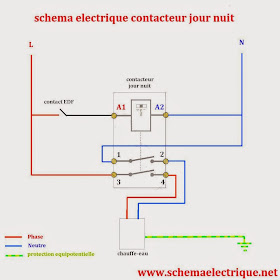 Schema electrique branchement cablage schema branchement cablage contacteur jour nuit - Installer contacteur jour nuit ...