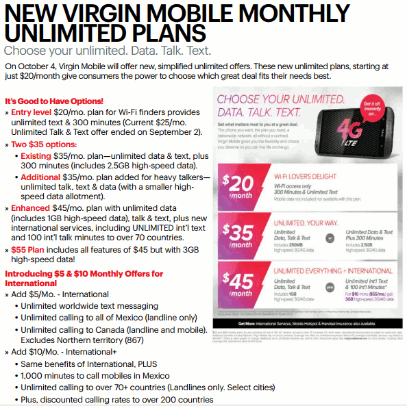 virgin mobile plan