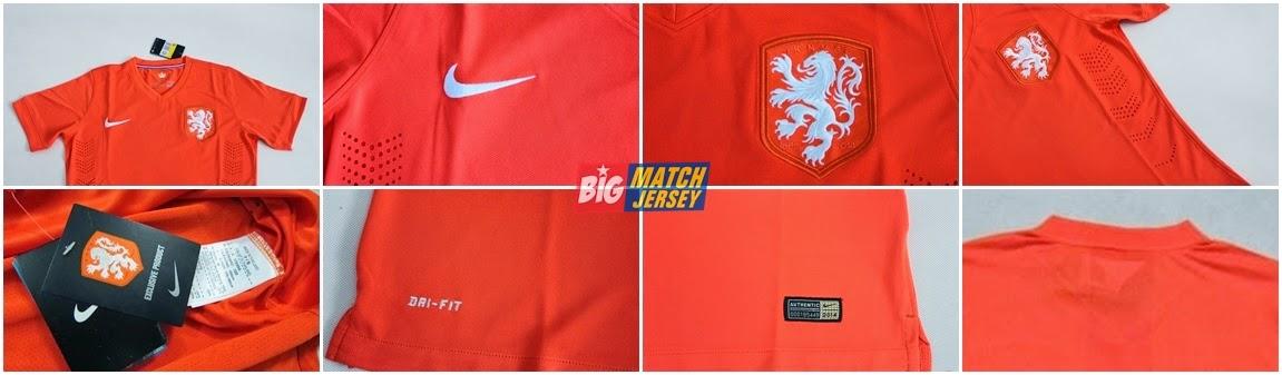 Detail Jersey Grade Ori Couple Holland - Belanda Home Di Piala Dunia 2014