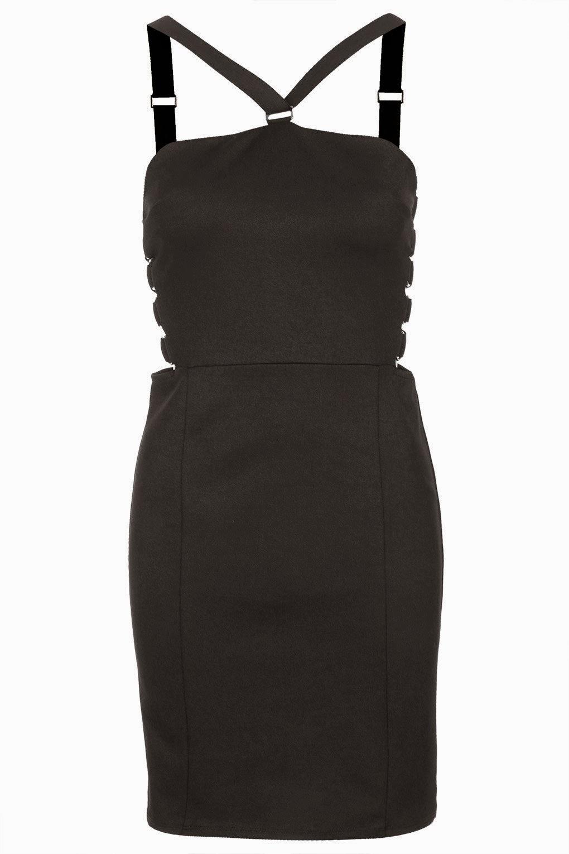 black strappy dress topshop