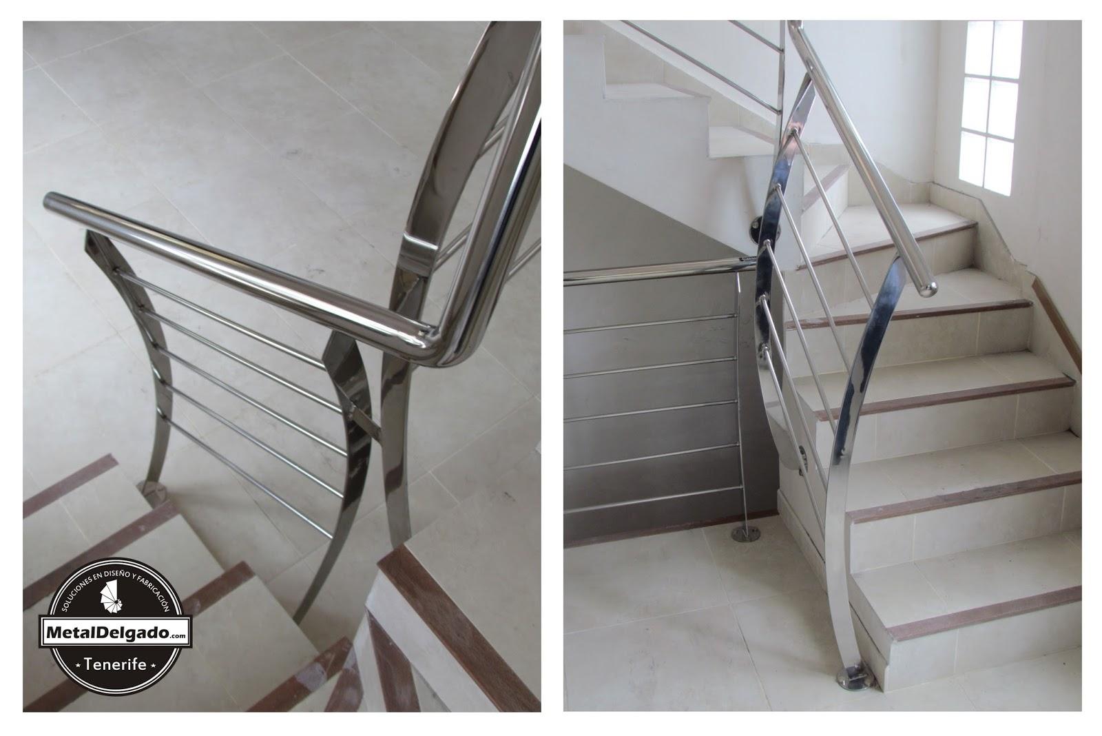 Acero inoxidable tenerife barandas acero inoxidable para for Barandas de escalera